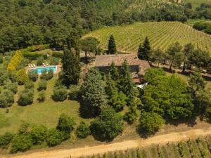 Vue panoramique sur l'établissement Agriturismo Villa Panorama