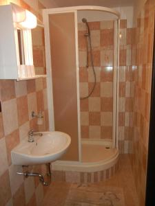 A bathroom at Guest House Pod Lesem Merklín