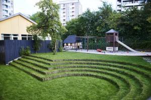 En trädgård utanför Danhostel Copenhagen Bellahøj