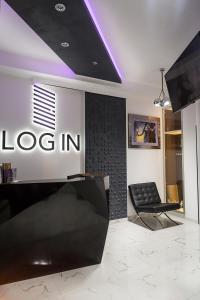 Predvorje ili recepcija u objektu Log In Rooms