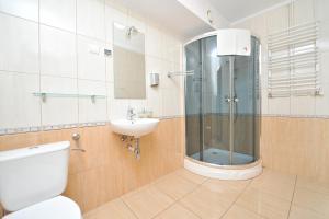 A bathroom at Pensjonat Stańczyk