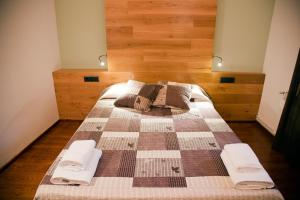 Cama o camas de una habitación en Casa La Lourdes