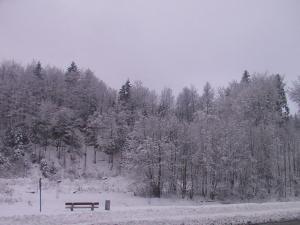 Gosciniec Wenecja during the winter