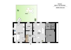 Grundriss der Unterkunft Ferienhaus Borntal