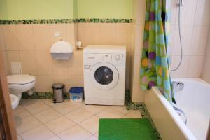 A bathroom at InLviv Apartments
