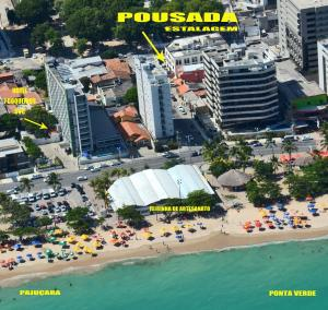 A bird's-eye view of Estalagem Maceió