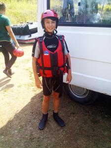 Děti v ubytování Rafting Camp Tara Center Tri Vodenice