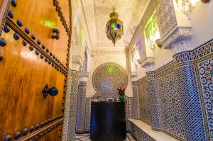 The lobby or reception area at Riad Sidi Fatah