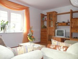 Ein Bett oder Betten in einem Zimmer der Unterkunft Landurlaub in Schiebsdorf