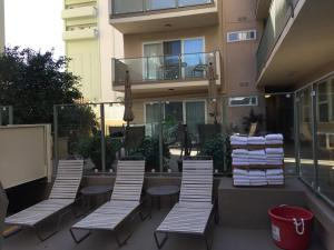A patio or other outdoor area at Hollywood Orchid Suites