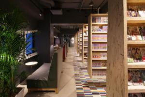 A supermarket or other shops at the capsule hotel or nearby