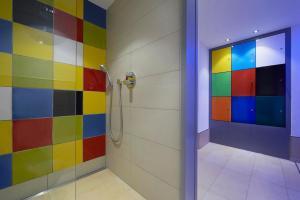 Ein Badezimmer in der Unterkunft Burg-Hotel