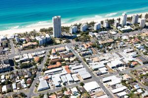 A bird's-eye view of Burleigh Gold Coast Motel