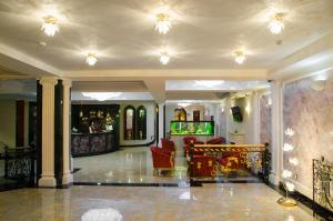 The lobby or reception area at SPA Hotel Rafael