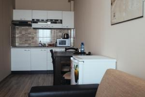Kuchyň nebo kuchyňský kout v ubytování Apartmany Fonte