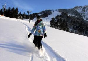 Skifahren im Hotel oder in der Nähe