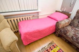 Кровать или кровати в номере Гостиница Авиамоторная