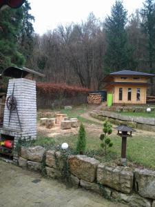 A garden outside Pension Am Waldrand
