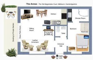 The floor plan of The Old Magistrates Court