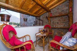 Ein Sitzbereich in der Unterkunft La Loggia