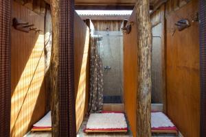 A bathroom at Ecocamp Patagonia