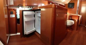 A bathroom at Oceanis 37 Sailing Yacht