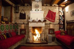 Część wypoczynkowa w obiekcie Hagiati Guesthouse