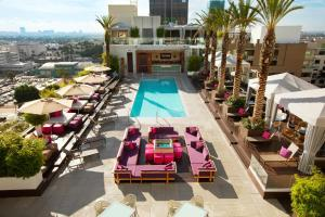 A view of the pool at W Hollywood or nearby