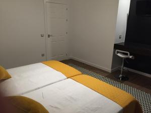 Cama o camas de una habitación en Hotel Campoblanco