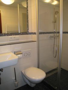 Ein Badezimmer in der Unterkunft Gasthaus Pension Donishäusle