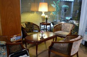 A seating area at Tokiwa Hotel