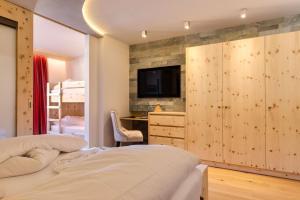 Ein Bett oder Betten in einem Zimmer der Unterkunft Hotel Panorama