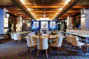 The lounge or bar area at Cihelny Golf & Wellness Resort