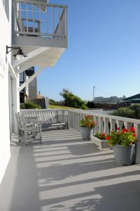 A balcony or terrace at The Bay Lodge