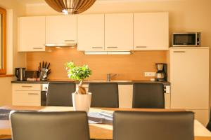 A kitchen or kitchenette at Residence Alpin
