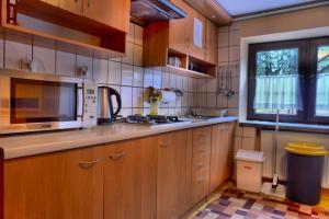 Kuchnia lub aneks kuchenny w obiekcie Dom Wakacyjny Izba