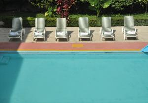 The swimming pool at or near Mision Jalpan