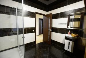 A bathroom at Alex House
