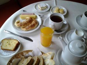 Opciones de desayuno para los huéspedes de Villa Nuccia Hotel Boutique