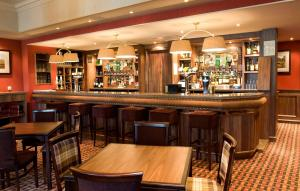 The lounge or bar area at Atholl Hotel