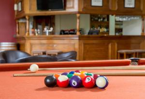 A pool table at Clare Country Club