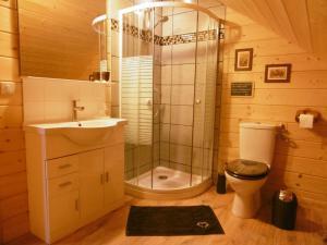 A bathroom at Gite Au Coeur Du Chalet en Belledonne vers Prapoutel Les 7 Laux