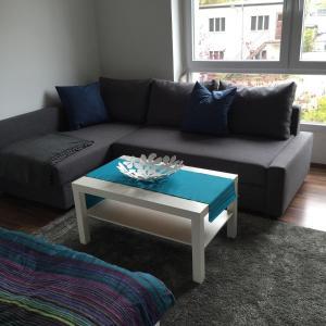 Ein Sitzbereich in der Unterkunft City FEWO Leipzig