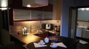 Küche/Küchenzeile in der Unterkunft Art Apartment Szczecin