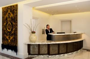 The lobby or reception area at GreyFriars