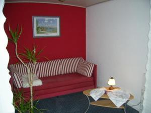 Ein Sitzbereich in der Unterkunft Ferienwohnung Veronika Pape