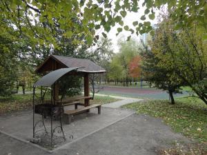 Патио или другая зона на открытом воздухе в Borisovskie Prudy Apartment
