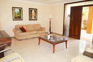 A seating area at Casa Atalaia