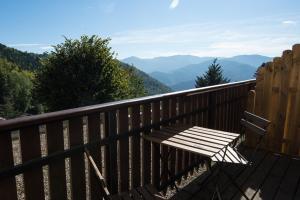 Ein Balkon oder eine Terrasse in der Unterkunft Auberge Du Mehrbachel