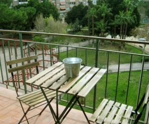 A balcony or terrace at La Casa de Lara